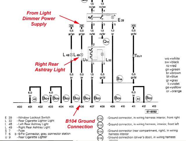 Audi Tail Lights Wiring - Wiring Data Diagram