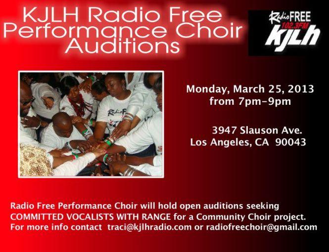 Auditions for Gospel Choir