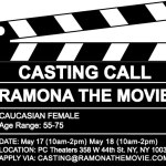 "Feature Film ""Ramona"" Auditions for Actress 55+ in NY"