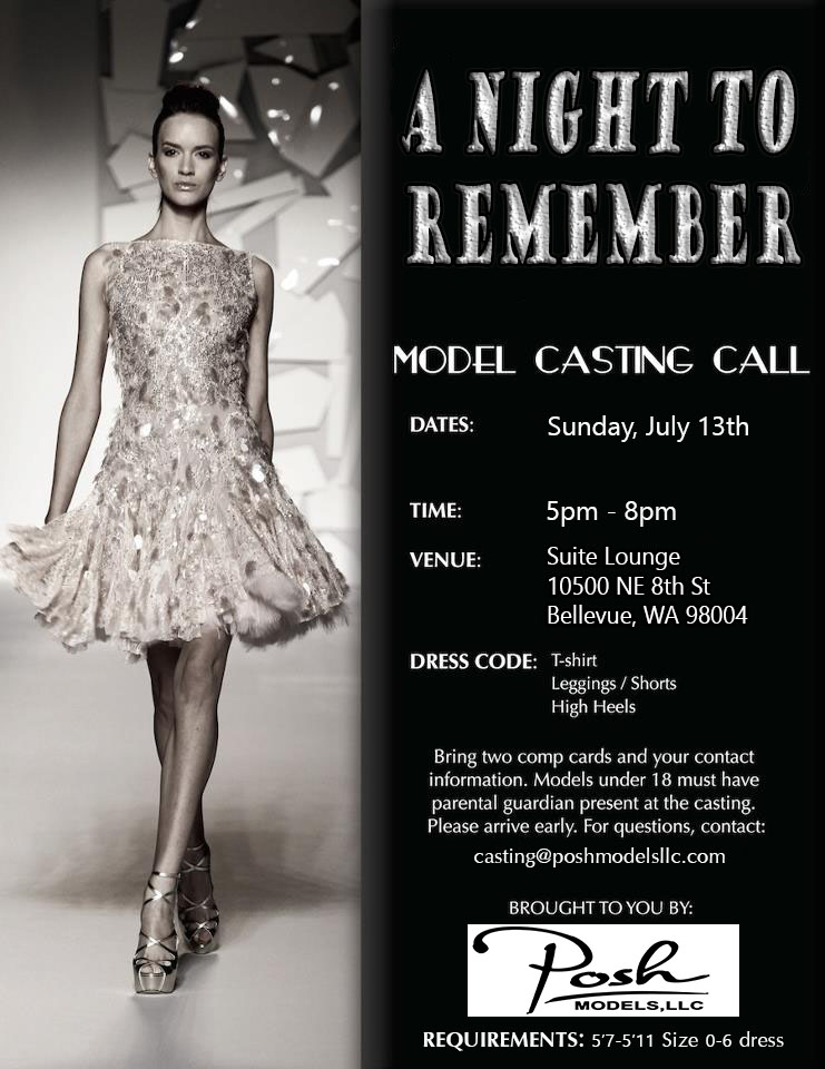 Seattle Fashion Week Auditions