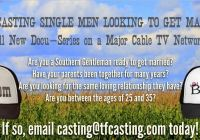 new reality / docu-series casting single men