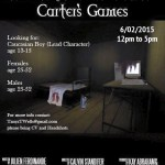 """Open Casting Call for """"Carter's Game"""" – Speaking Movie Roles in Chicago & Lead Teen Role"""