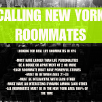 NYC Roommates Wanted for New Show