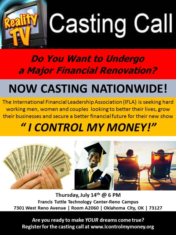 open casting call in oklahoma city for new financial reality show