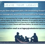 Seeking People Diagnosed with a Life Threatening Illness for Docu-Series