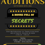 "Actor Auditions in Charlotte, NC for ""A House Full of Secrets"" Stage Play"