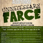 "Orange Park, FL Theater Auditions for ""Unnecessary Farce"""