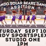 Dance / Cheerleader Tryouts for Orlando Solar Bears Hockey Team