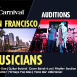 Auditions in San Francisco Bay Area for Carnival Cruises Singers and Musicians