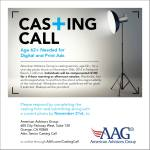 Casting Call for Seniors / Baby Boomers in Los Angeles / Orange County for Print Ad