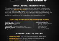 Casting teens for Soap Opera