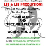 "Casting Men, Women and Children for Stage Play ""Solid as One"" in Atlanta"