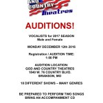 Singer Auditions in Branson Missouri
