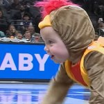 Baby Auditions in Sacramento for the NBA Kings