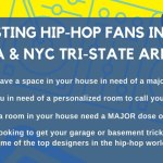 Casting Hip Hop Fans in NYC For Home Makeover Show, Pimp Out A Room