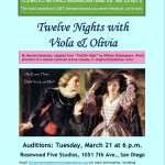 "Auditions in San Diego for LGBT-themed Retelling of Shakespeare's ""Twelfth Night"""