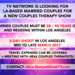 Docu-Series Casting Couples in Need of Therapy in L.A. Area