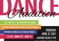 Dance auditions in Chicago
