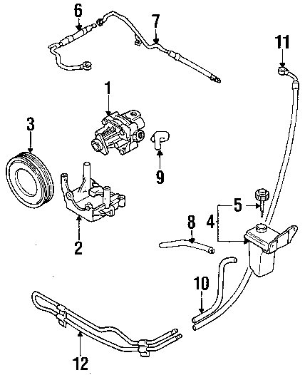 power steering diagram for 2003 audi a4
