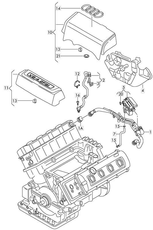 engine oil leak diagram