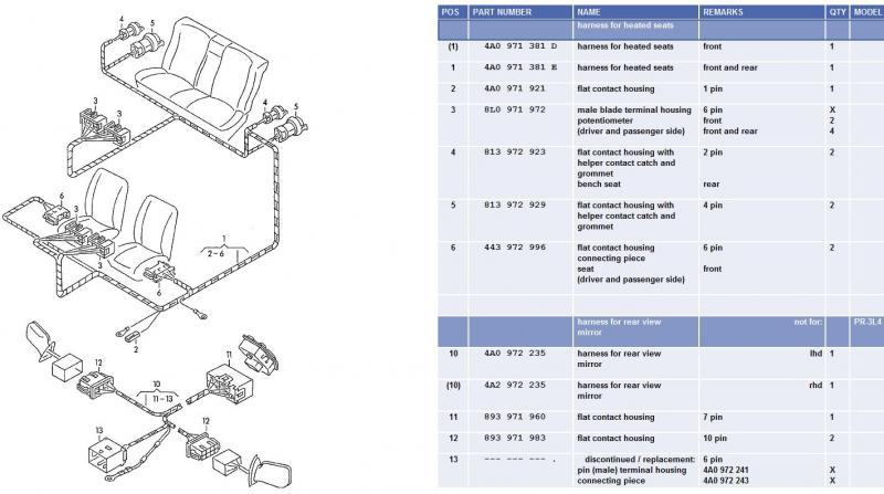 Audi A6 Seat Wiring - Wiring Data Diagram