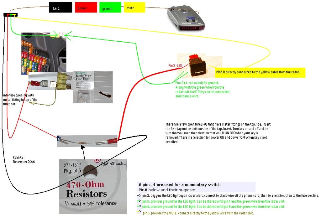 radar detector wiring diagram