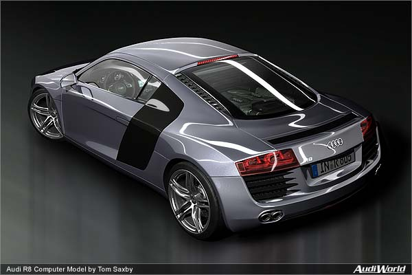 CG Visualization An Enthusiast Builds an Audi R8 - AudiWorld - best of blueprint drawings of audi r8