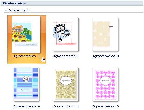aulaClic Curso gratis de Microsoft Publisher 2007 1 - Un Tour a - plantillas para invitaciones gratis