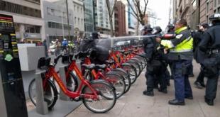 最少95名示威者被捕。另有最少3名警察受伤送院。 (网络图片)