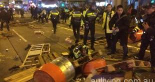 旺角暴亂。(網路圖片)
