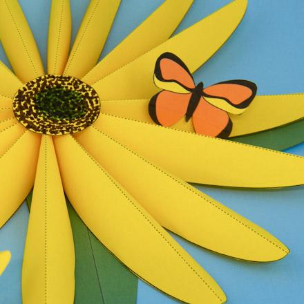 Make Paper Sunflowers - 3D Paper Crafts - Aunt Annie\u0027s Crafts