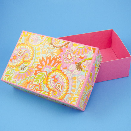 How to Make a Rectangular Box Pattern - Boxes and Bags - Aunt