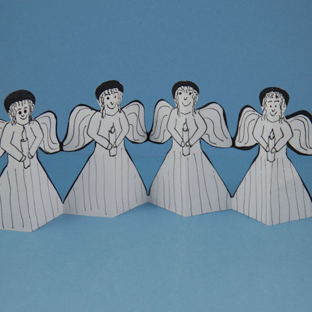 How to Make Paper Angel Chains - Christmas Crafts - Aunt Annie\u0027s Crafts