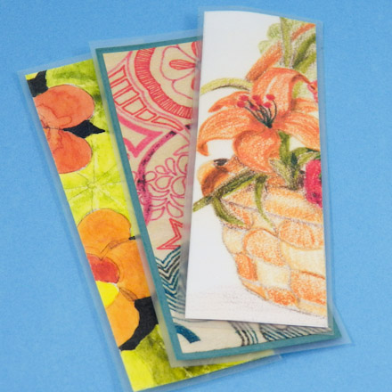 Make Recycled Artwork Bookmarks - Friday Fun Craft Projects - Aunt