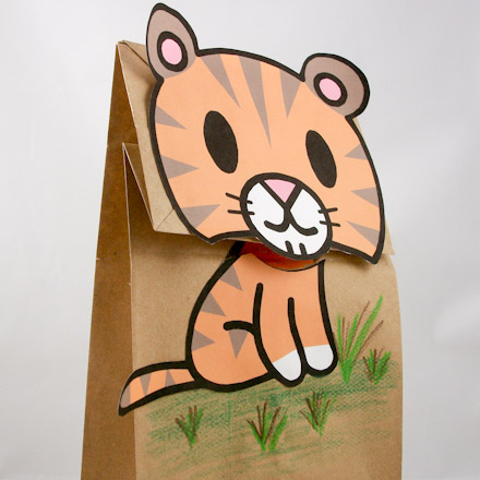 Easy to Make Clip Art Bag Puppets - Friday Fun Craft Projects - Aunt
