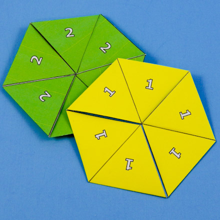 How to Make a Flexagon - Geometric Toys to Make - Aunt Annie\u0027s Crafts - hexaflexagon template