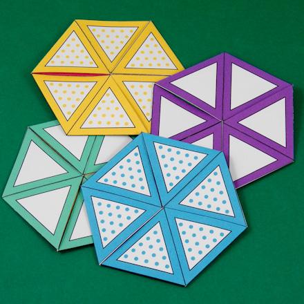 How to Make a Flexagon - Geometric Toys to Make - Aunt Annie\u0027s Crafts - hexaflexagon template