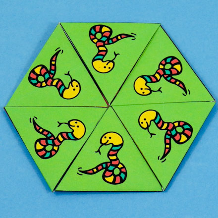 How to Make a Hexa-hexaflexagon - Geometric Toys to Make - Aunt - hexaflexagon template