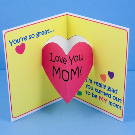 Make Mother\u0027s Day Pop-Up Card - Mother\u0027s Day Crafts - Aunt Annie\u0027s - mother sday cards