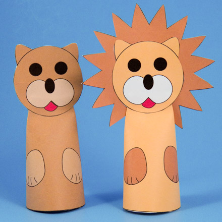 How to Make Paper Cone Finger Puppets - Puppets Around the World