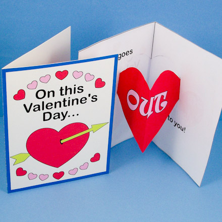 How to Make a Heart Pop-Up Card - Valentine\u0027s Day Crafts - Aunt
