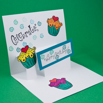 Card Making Idea Step Pop-Up Card Tutorial - Greeting Card Class 2