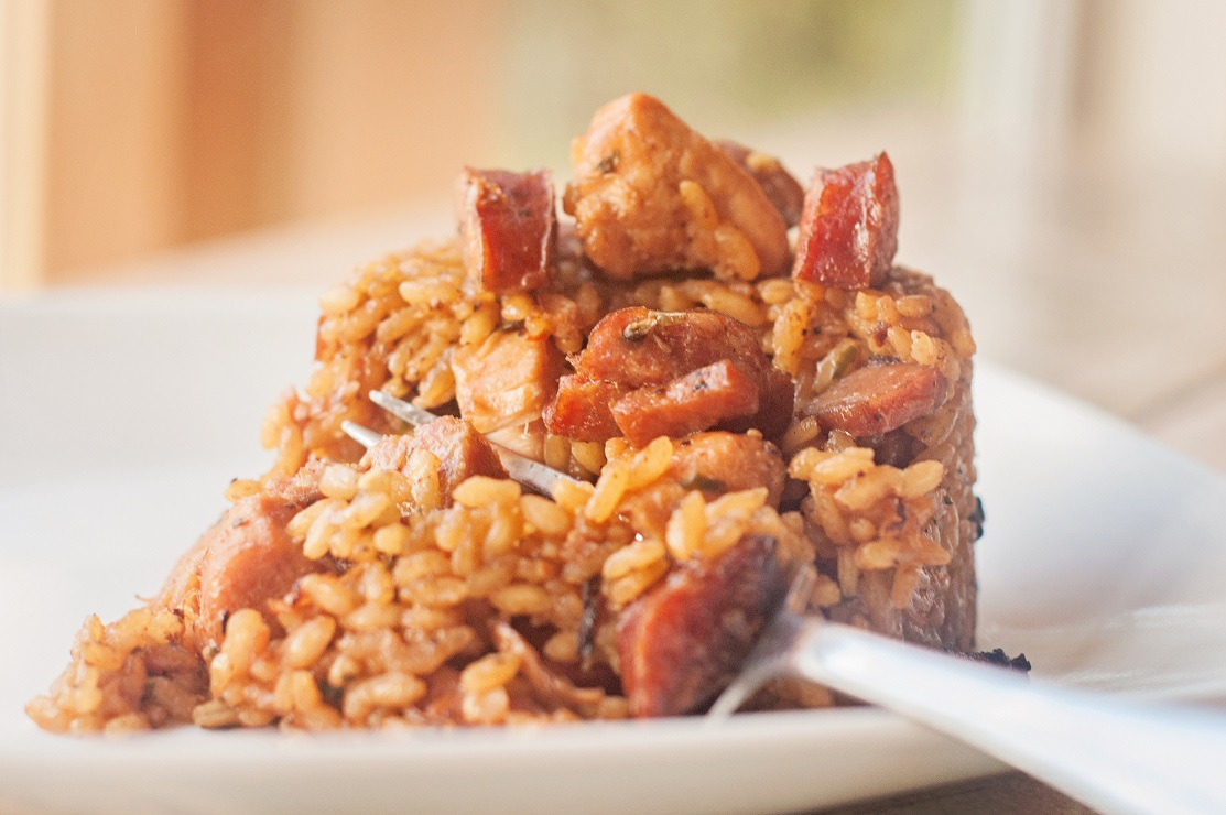 Cajun Jambalaya with Chicken, Sausage & Ham