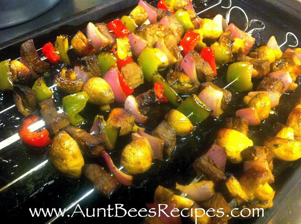 Steak and Veggie Kabobs