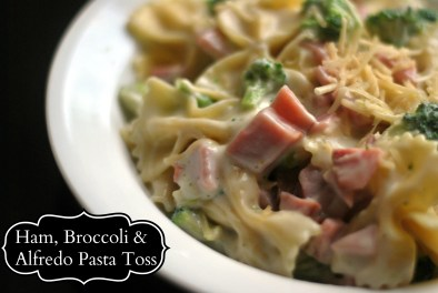 Ham, Broccoli, Alfredo Toss facebook