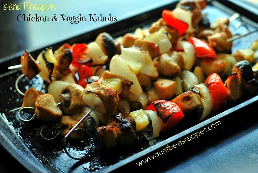 Island Pineapple Chicken & Veggie Kabobs