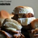 Sugar Cookie Crusted Pork Tenderloin Sliders with Dijon-Thyme Mayonnaise