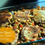 Pork Chop & Garden Vegetable Rice Bake