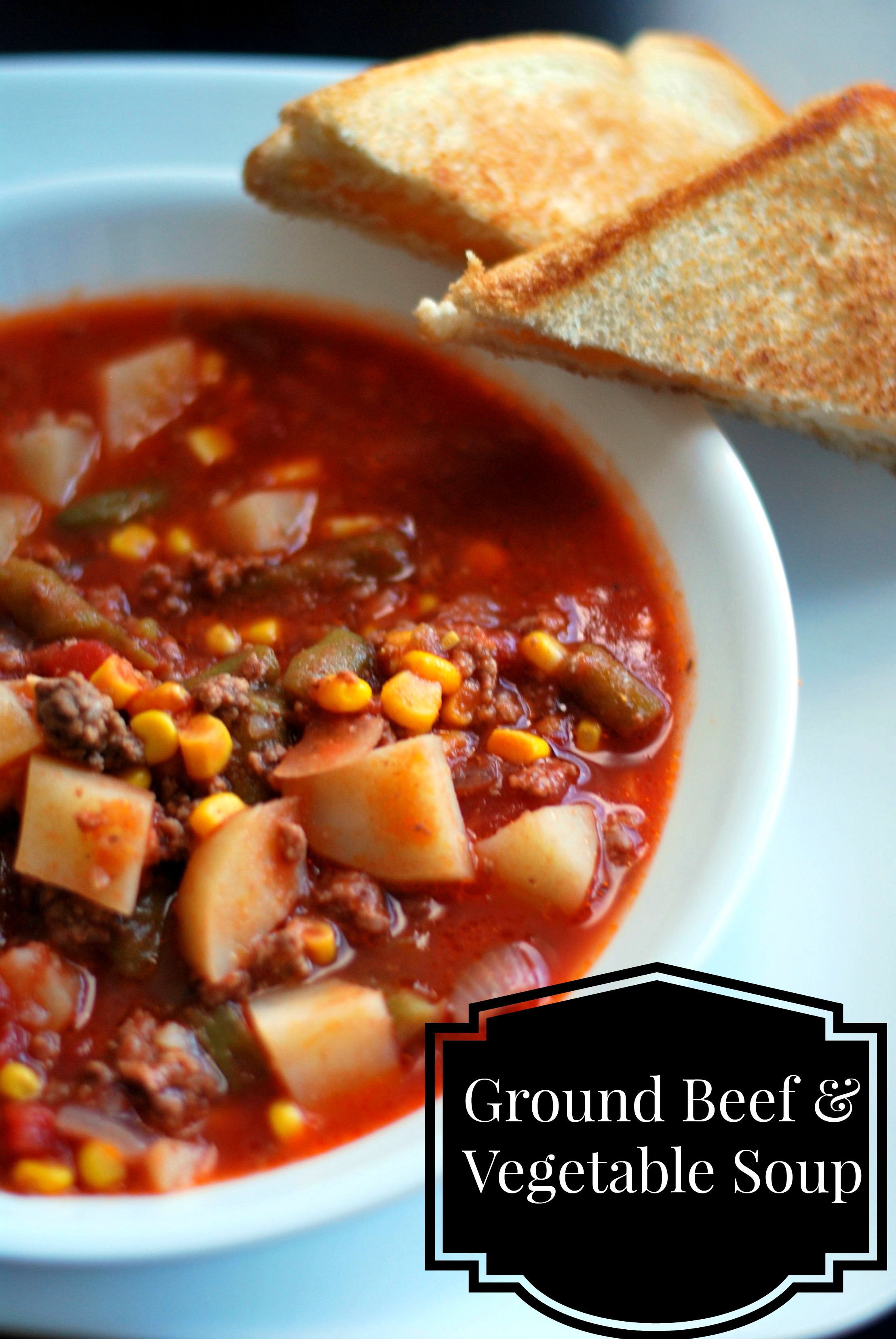 Nana S Ground Beef Vegetable Soup Aunt Bee S Recipes