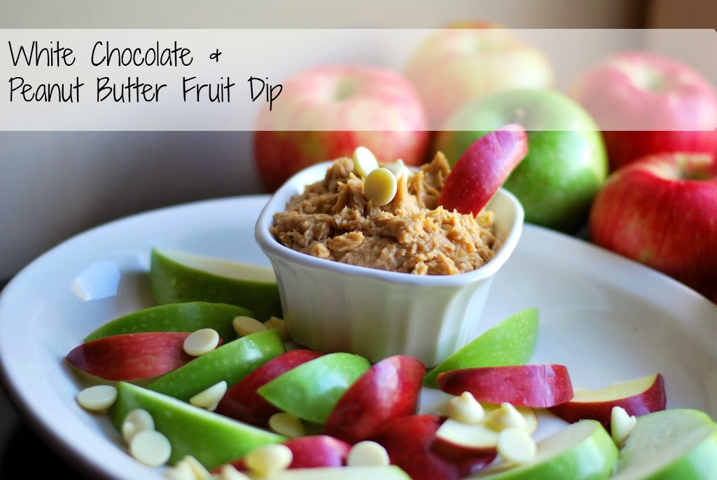 White Chocolate & Peanut Butter Fruit Dip